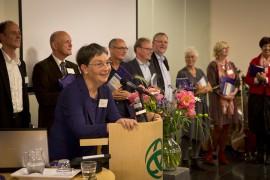 Toespraak Marjolein Thiebout - foto: Ted van den Bergh